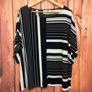 Chico's Blue abstract striped top